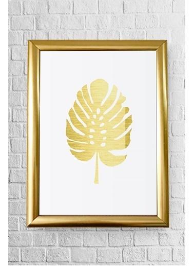 Lyn Home & Decor Gold Yaprak Çerçeveli Poster Tablo 17,5X23,5 Altın
